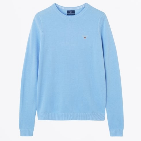Gant - Cotton Piqué Crew Sweater - Blue