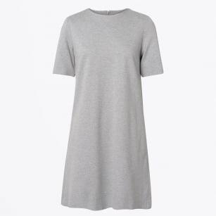 - Cotton Pique Dress - Grey Melange