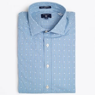 | Dobby Stripe Dot Fit Spread - Sage Blue