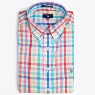 | Easy Care Basket Weave Shirt - White