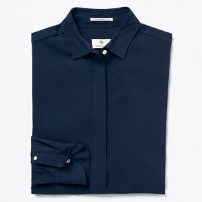 - Featherweight Twill Blouse - Navy