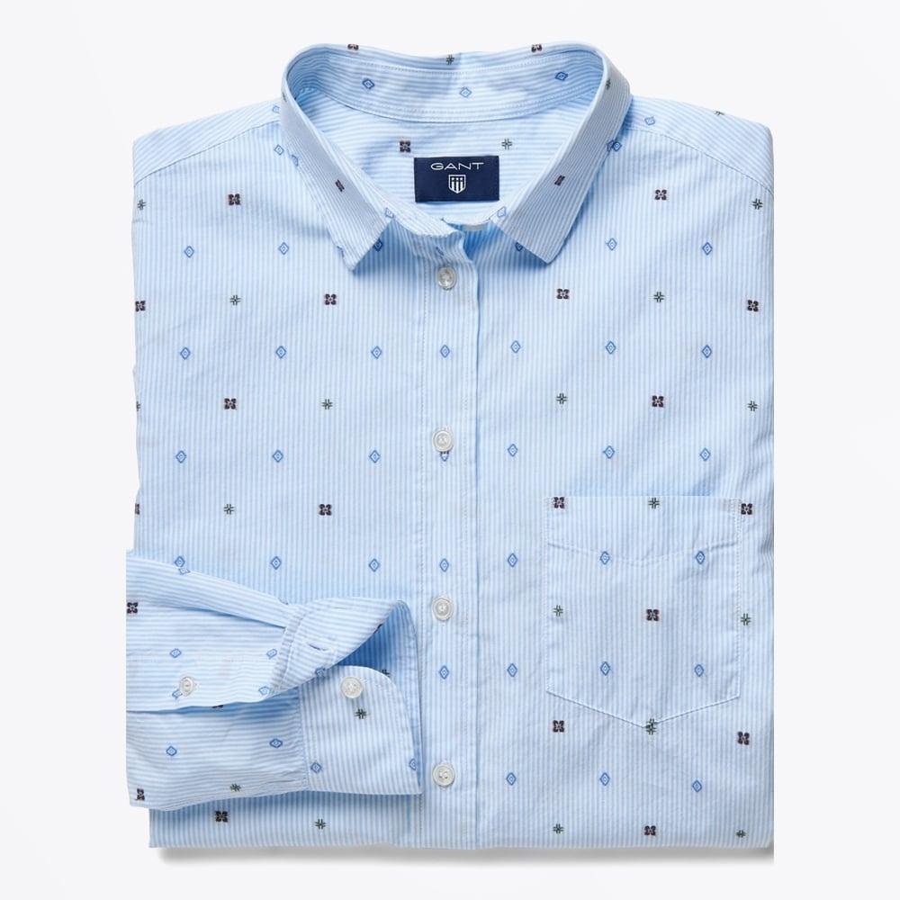 fil coupe striped shirt hamptons blue women 39 s shirts gant. Black Bedroom Furniture Sets. Home Design Ideas
