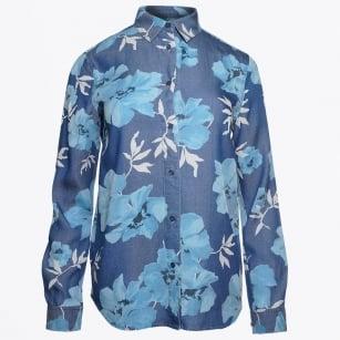 | Island Flower Shirt - Indigo