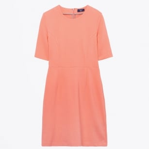 - Jersey Pique Stretch Dress - Shell Pink