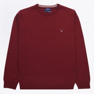 | Lambswool Crewneck Jumper - Burgundy