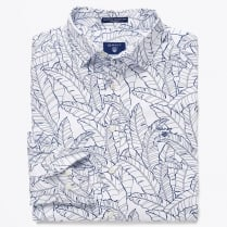 - Leaf Print Shirt - White