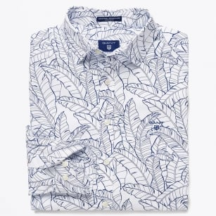| Leaf Print Shirt - White