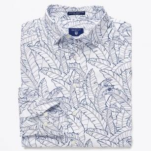 | Leaf Print Shirt - White