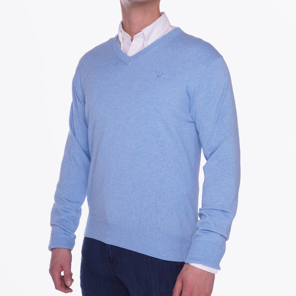 Light Weight Cotton V Neck | Mens Sweater | Sweaters For Men | Gant