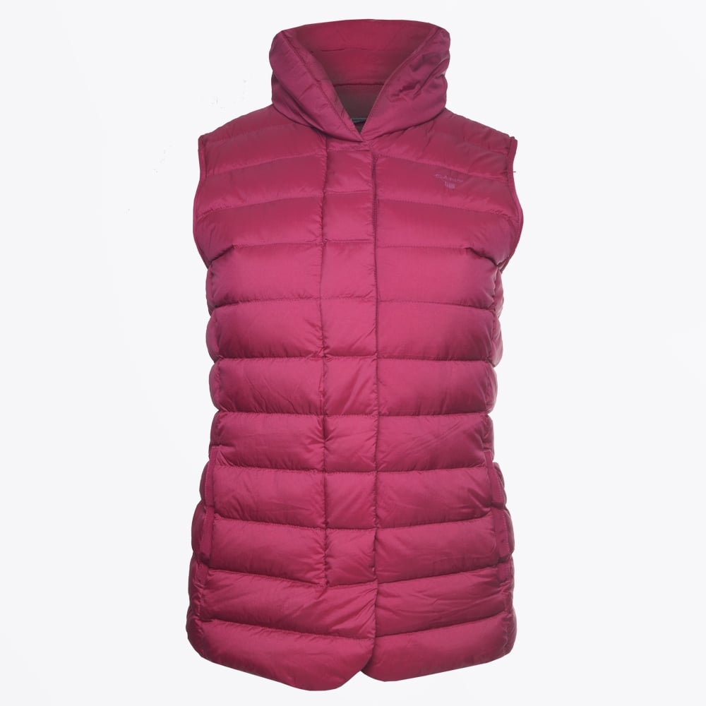 dc9c07ef2e Gant - Lightweight Down Vest - Raspberry Purple - Mr & Mrs Stitch