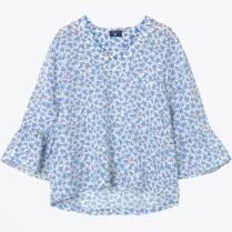 - Linked Floral Top - White