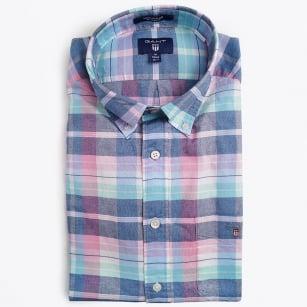 | Madras Plaid Shirt - Persian Blue