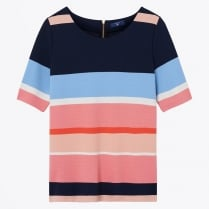 - Multi Stripe Top - Evening Blue
