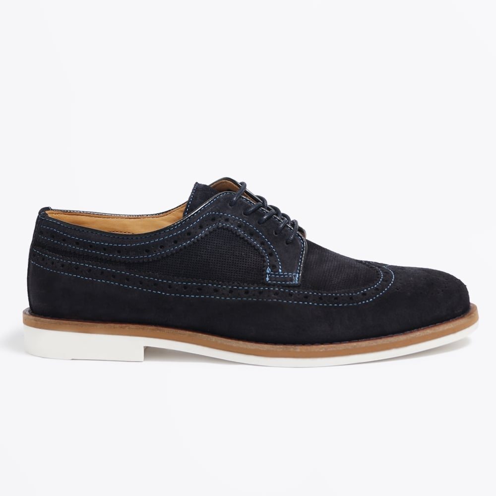Oliver Low Lace Suede Shoe - Navy