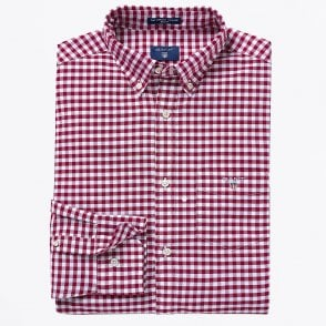 - Oxford Gingham Shirt - Red