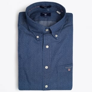 | Printed Chambray Shirt - Indigo