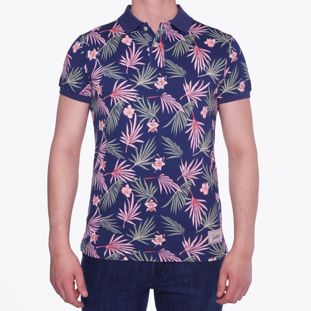 floral print pique polo shirt gyMXtaM