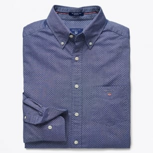 | Printed Oxford Shirt - Persian Blue