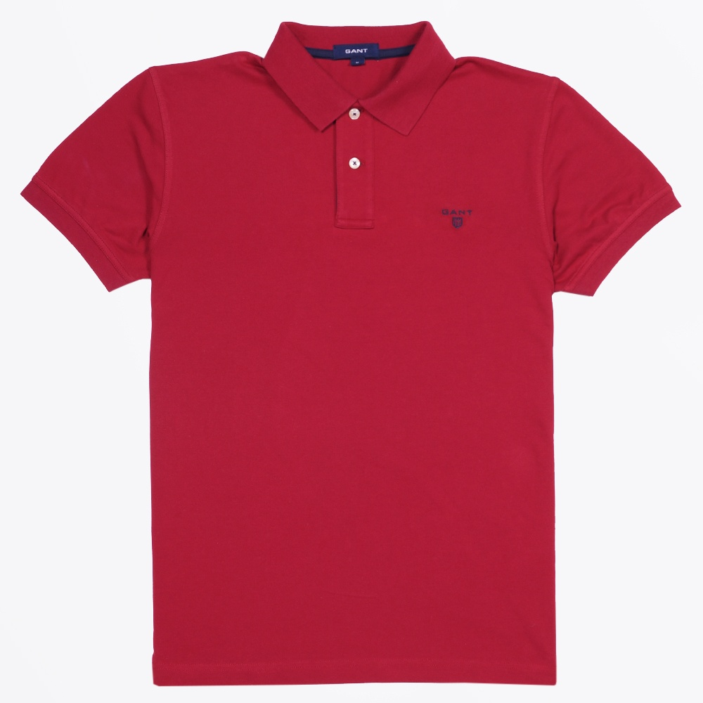 fee7bd3e5 Red Contrast Trim Polo Shirt