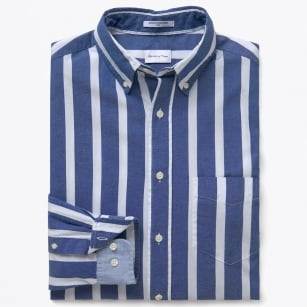 Archive Oxford Bold Stripe Shirt - Deep Ocean