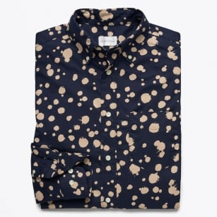 | Dreamy Oxford Dot Shirt - Evening Blue