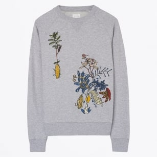 | Embroidered Sweatshirt - Grey