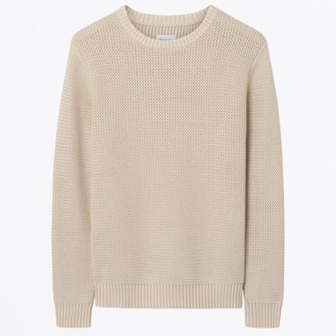 Gant Rugger - Horizontal Herringbone Sweater - Sand