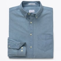 - Indigo Chambray Button Down Collar Shirt