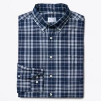 - Madras Check Slim Fit Shirt - Indigo