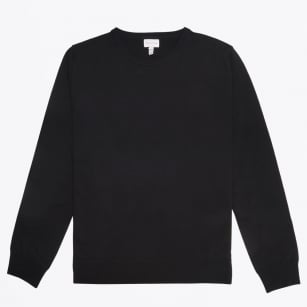 - Merino Crew Jumper - Black