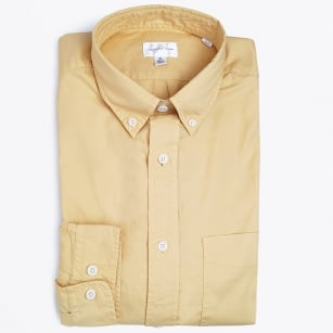 | Organic Garment Dyed Oxford Shirt - Daisy Yellow