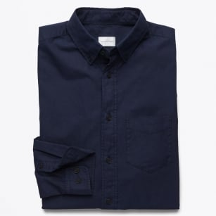 | Organic Garment Dyed Oxford Shirt - Evening Blue