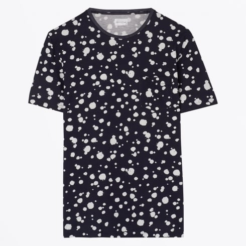 Gant Rugger - Printed Organic Dot Tee - Evening Blue