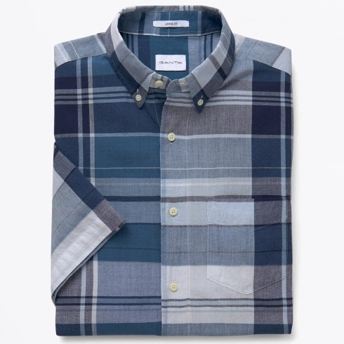 Gant Rugger - Selvedge Bleeding Madras Shirt - Deep Ocean