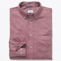 - Windblown Oxford Shirt - Crimson Red