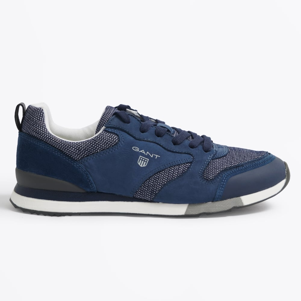 Russell Canvas Leather Sneaker - Navy  91f140f3d