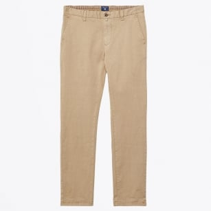 | Slim Fit Comfort Chinos - Khaki Beige