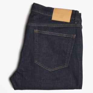 - Slim Straight Jeans - Dark Blue