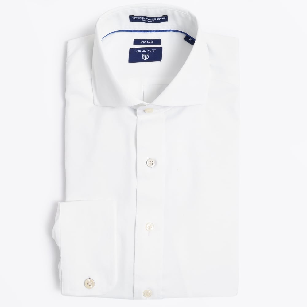 fae2f916a Gant - Solid Pinpoint Oxford Shirt - Regular Fit - White