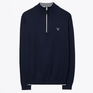 | Sporty Half Zip Jumper - Marine