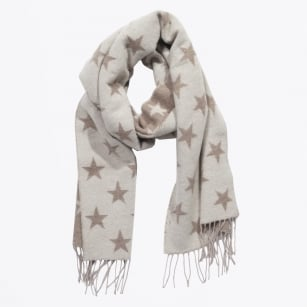 | Star Woven Scarf - Brown