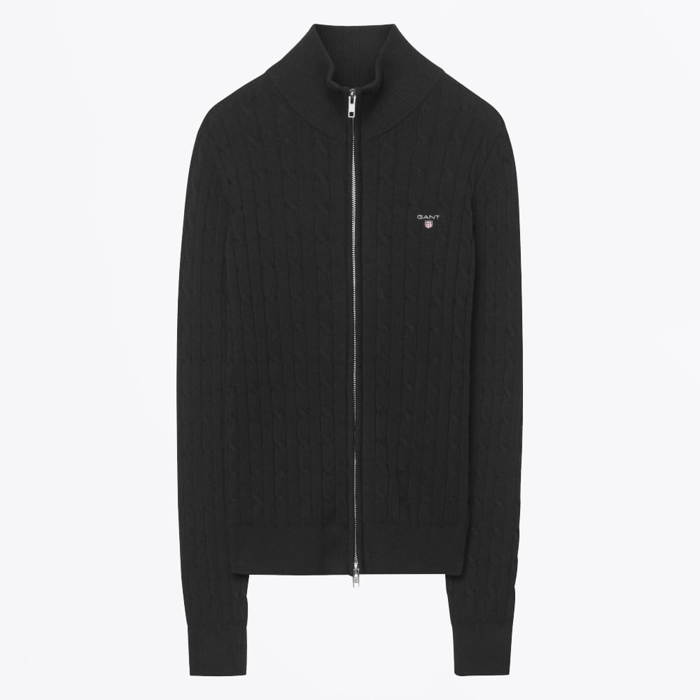 01af0e4b5981 Stretch Cotton Cable Zip Cardigan