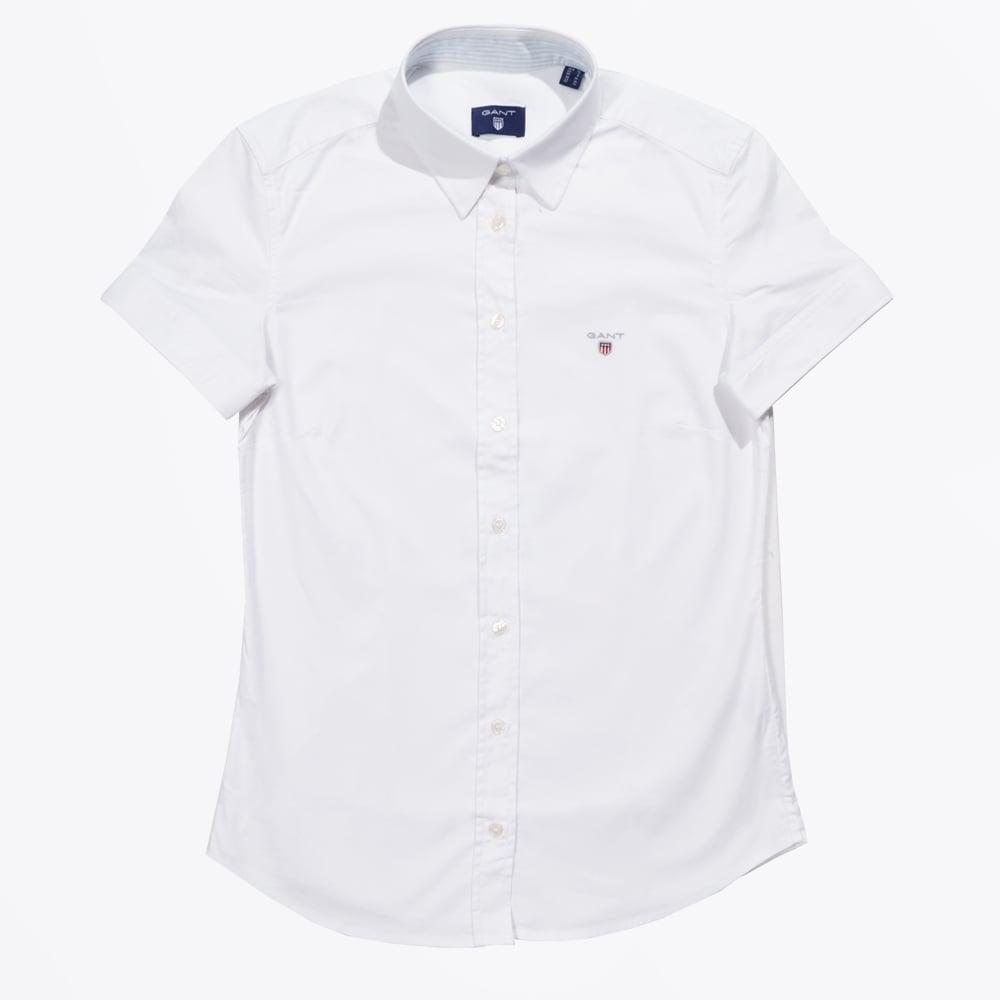 c351c70cf Gant - Stretch Oxford Short Sleeve Shirt - White