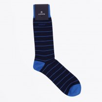 - Stripe Cotton Socks - Navy