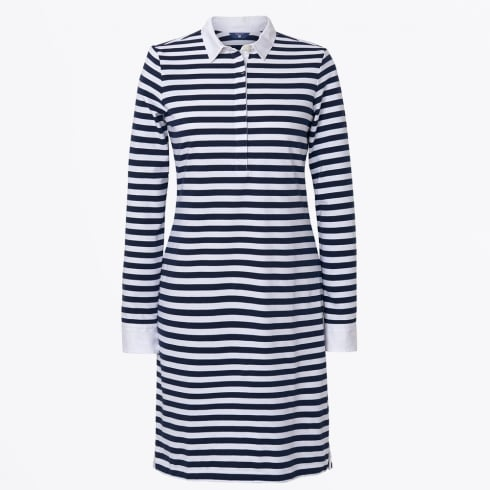 Gant - Striped Heavy Rugger Dress - Navy