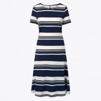 - Striped Rugger Dress - Evening Blue