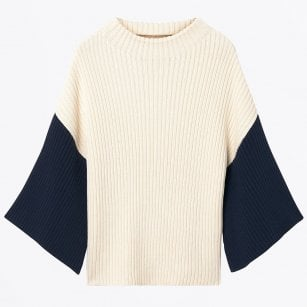 - Structured Ribbed Knit -  Cream