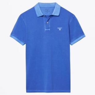 | Sunbleached Polo Shirt - Palace Blue