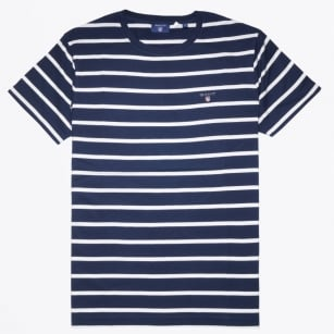 | T-Shirt - Breton Stripe - Shadow Blue