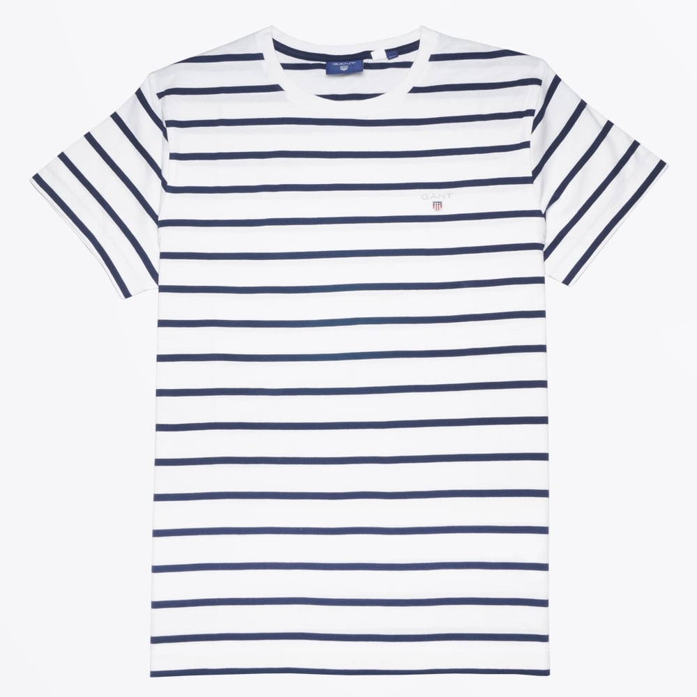 gant breton stripe t shirt white mr mrs stitch. Black Bedroom Furniture Sets. Home Design Ideas